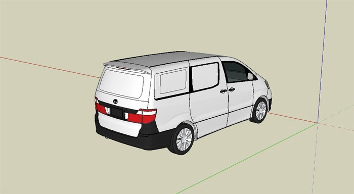 丰田面包车su模型