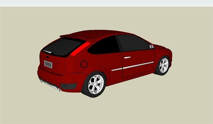 福特福克斯汽车设计su模型