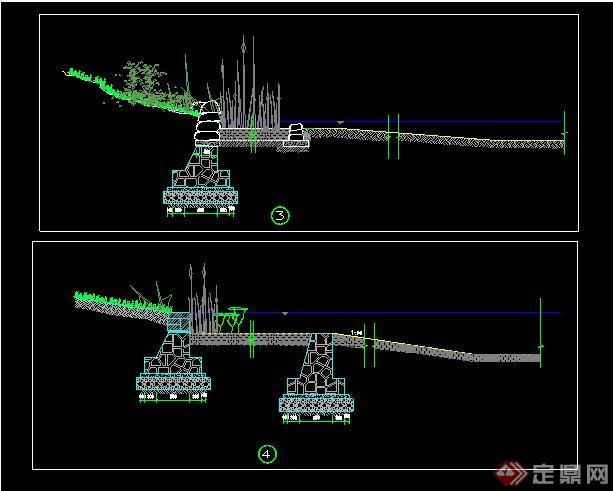 各种资料样式CAD施工图[原创]cad驳岸新手图片