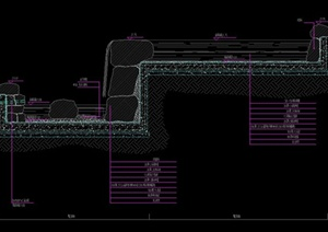 园林景观节点水景驳岸设计cad详图