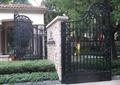 小区入口大门,铁艺门,标志景墙