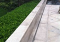 矮墙,矮墙坐凳,地灯,挡墙种植池,水池