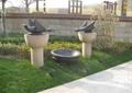 雕塑小品,鸟类雕塑,绿化带,草坪灯