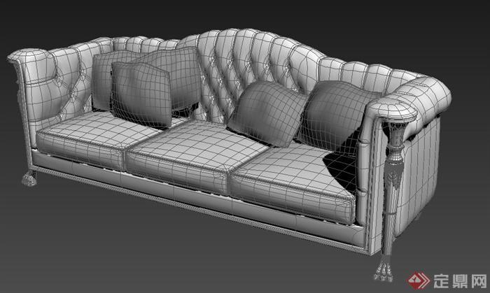 欧式风格室内沙发设计3dmax模型