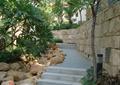 小区园路,卵石,挡墙,挡墙围墙