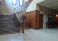 售楼部楼梯,铁艺栏杆
