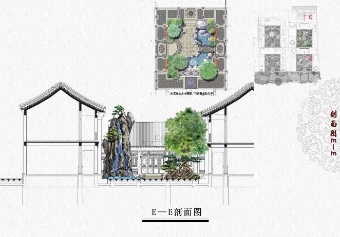 北京私人四合院中式庭院景观设计整套方案高清文本图片