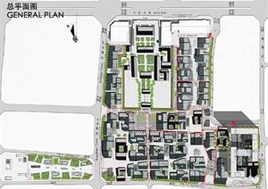 案高清文本(附CAD总平面图)-现代中式购物中心商业街区园林景图片