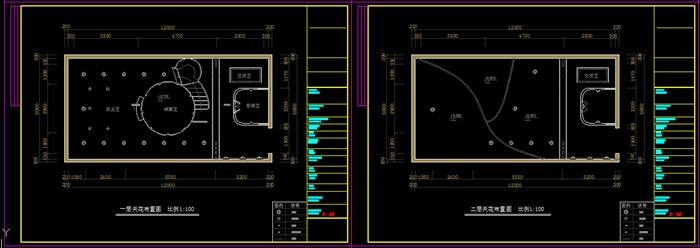 书吧室内设计方案CAD图[竖排]cad原创单行文字图片