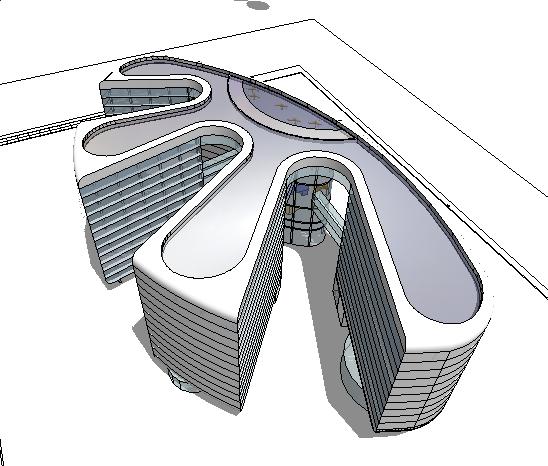 科技创意大厦su精致设计模型[原创]图片