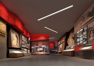 某红色革命展厅3D模型