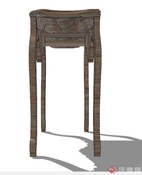 古典中式木雕花椅子su模型[原创]