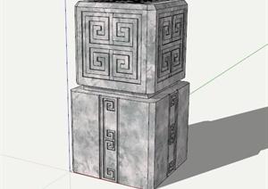 雕塑小品景观SU(草图大师)模型