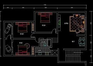 多款住宅空间装修设计CAD详图