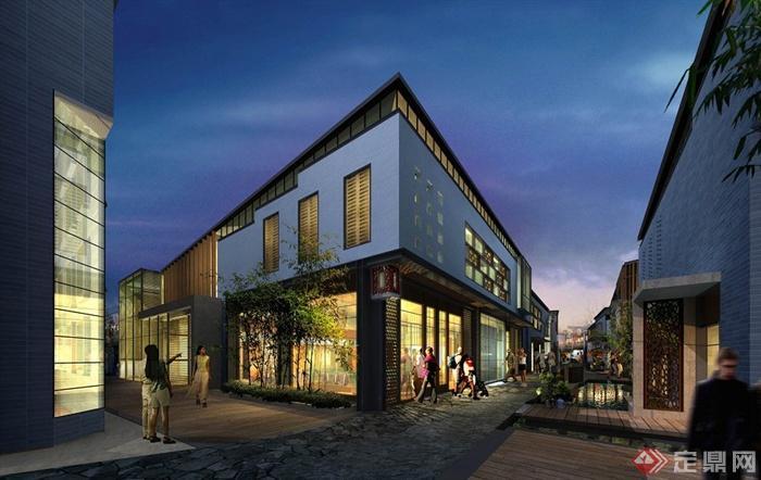 古典中式徽派商业街建筑规划设计jpg方案图[原创]图片