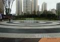 喷泉水景,圆形喷泉水池,地面铺装,地面素材