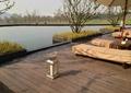 水池景观,滨水平台,亲水木平台,休闲躺椅,树池,地灯