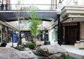商业街景观,溪流,水池,自然石