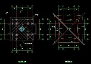 中式亭子集合CAD施工图