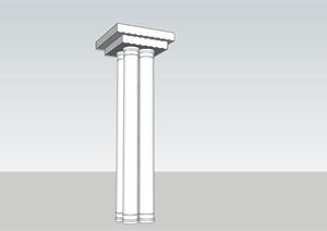 欧式景观柱SU(草图大师)模型