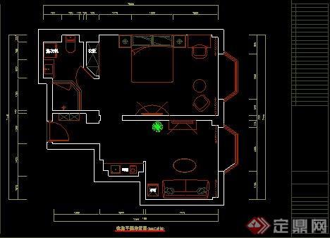 某酒店公寓平面CAD布置图