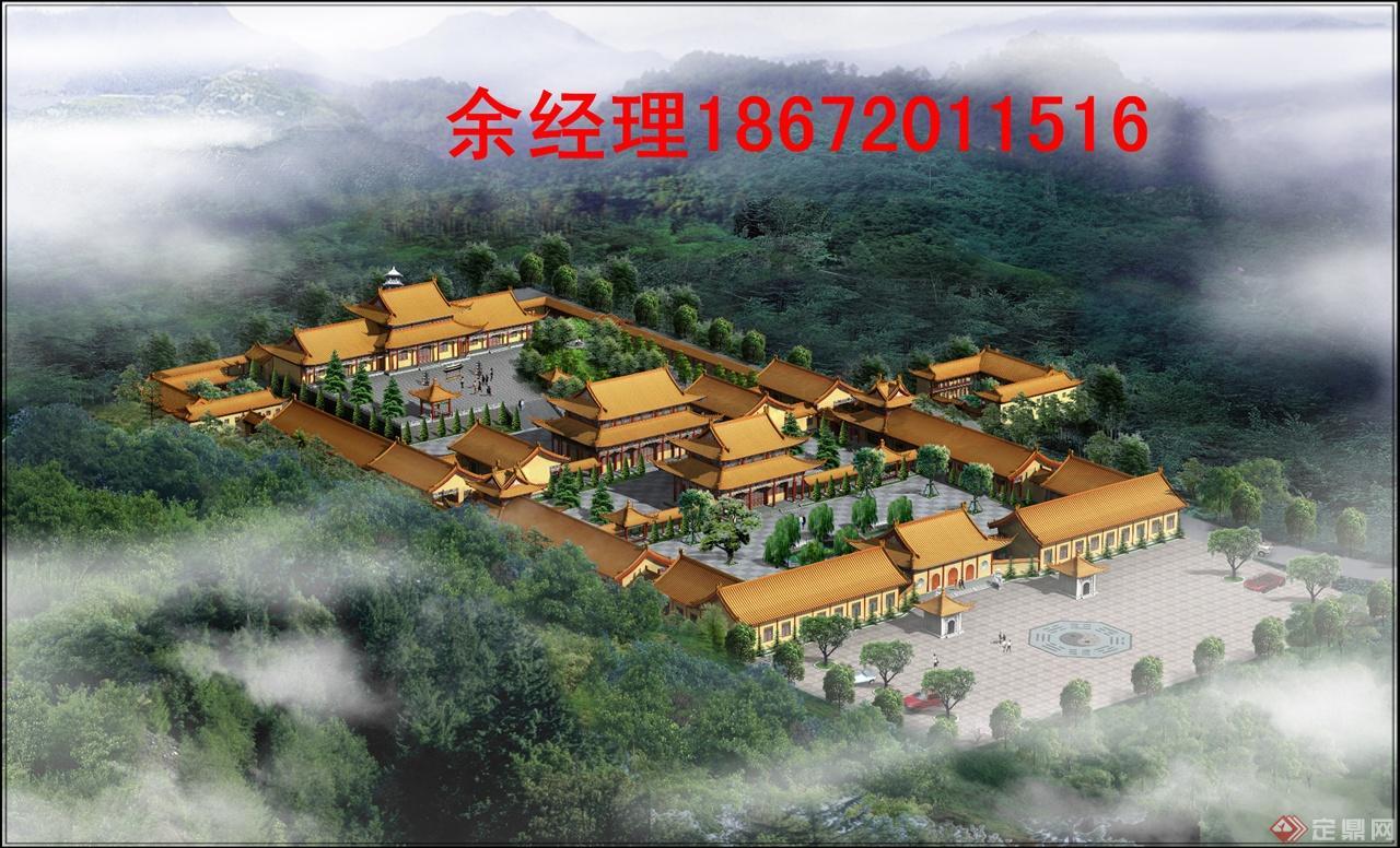 寺院规划设计图-寺庙设计图_寺庙效果图片_寺院规划图