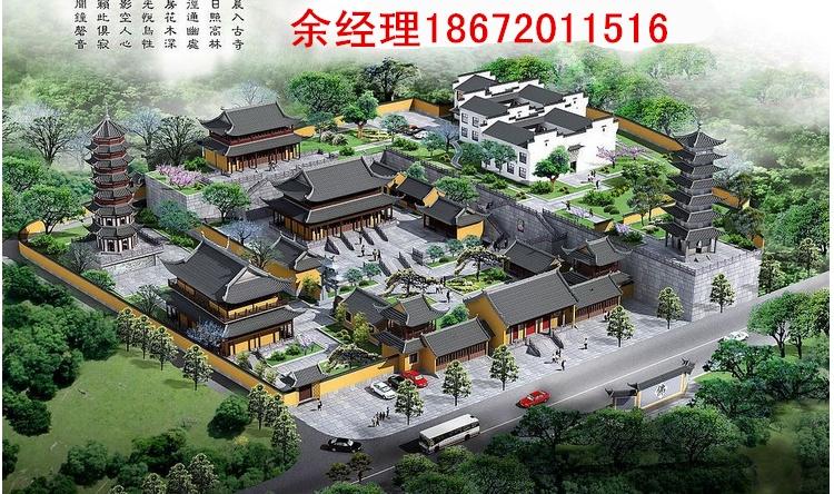 寺院规划设计图效果图2