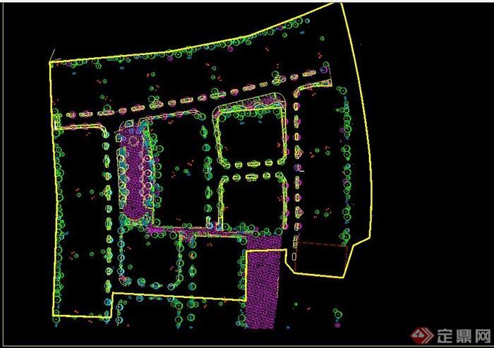 某别墅花园庭院景观CAD施工图