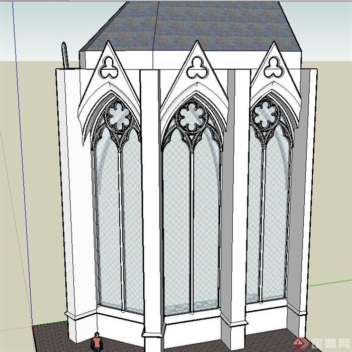 欧式建筑节点窗子设计su模型(1)图片