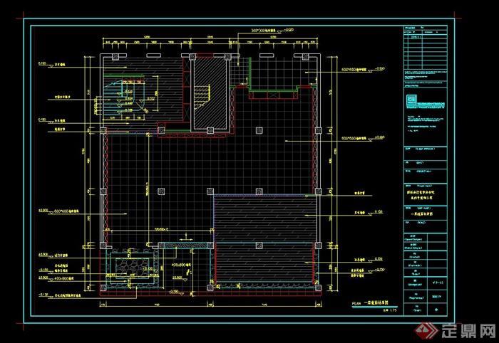 某室内书吧设计cad完整施工图(2)