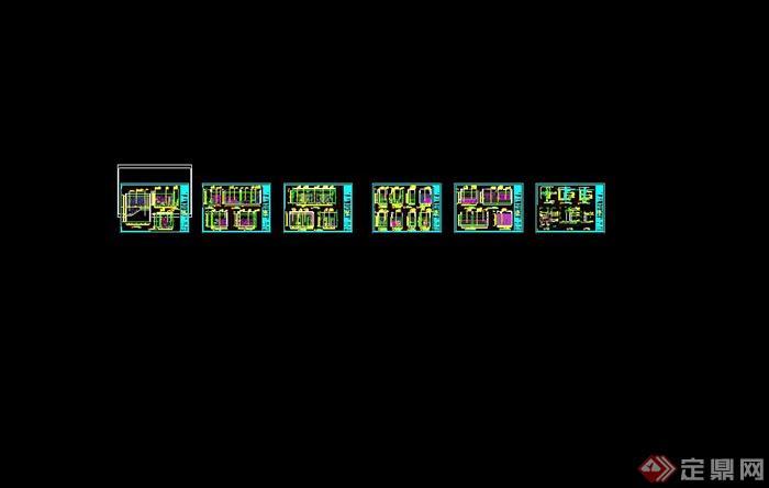 某室内书吧设计cad完整施工图(5)