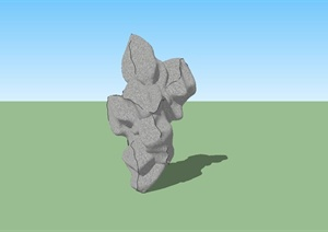 庭院景石设计SU(草图大师)模型