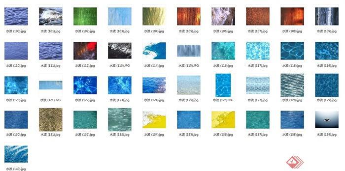 水波3d,su材质贴图