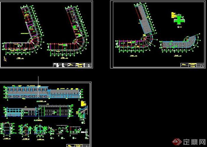 三层欧式风格商业建筑设计cad方案图(2)