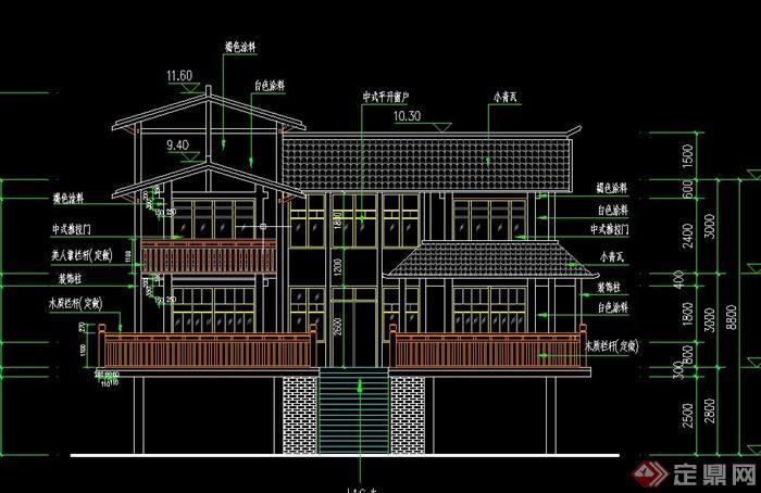 式别墅建筑设计CAD结构水电图施工图