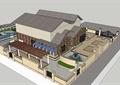 某欧式别墅庭院花园效果图+SU模型