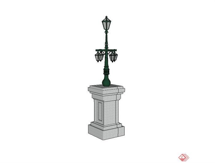 欧式精致景观灯设计su模型