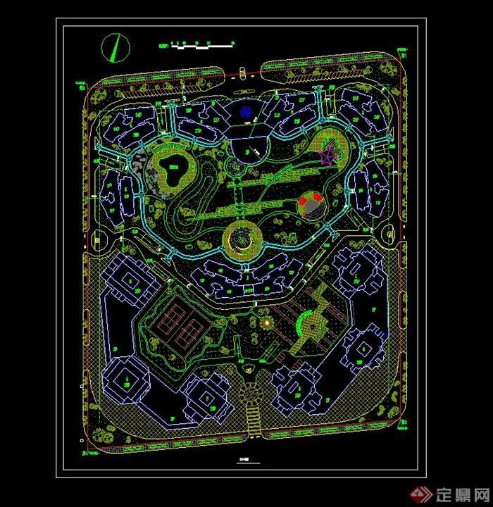 住宅小区规划cad总平面图图片