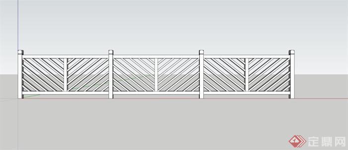 某现代中式栏杆su模型(3)