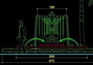 观节点多个喷泉水池设计cad施工图-设计素材下载