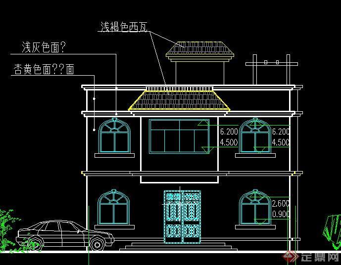 二层自建房建筑结构设计cad施工图[原创]