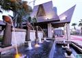 喷泉水池,景墙,叠水水景