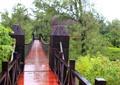 木棧道橋,木欄桿