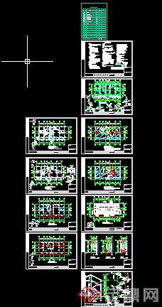 二层欧式别墅全套建筑设计cad施工图[原创]