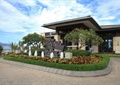 别墅入口景观,喷泉,种植池,雕塑小品