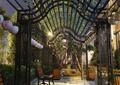 廊架,花架,花廊架,花盆,长椅,花钵