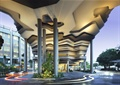 酒店入口,入口景观,柱子,灌木丛