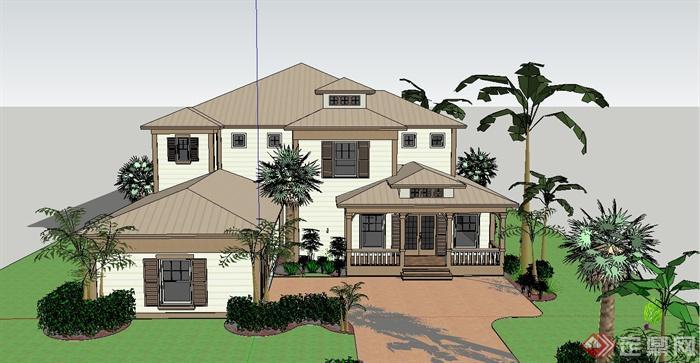 搭木头房子模型的图纸