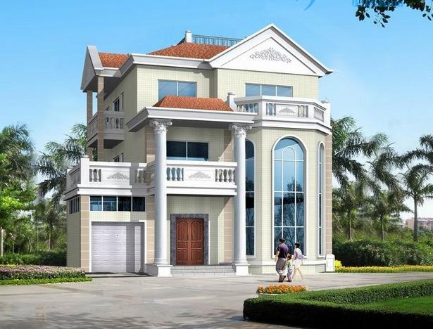 三层别墅复式住宅建筑带车库设计cad施工图[原创]图片