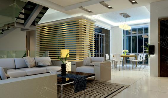 复式结构住宅空间装修设计cad施工图含jpg效果[原创]